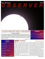 July 2012 - the Denver Astronomical Society
