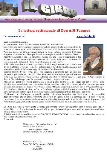 La lettera di Don Angelo del 13/11/2011 - il gibbo