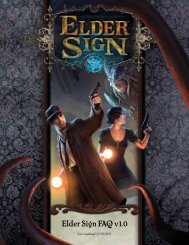 Elder Sign FAQ v1.0 - Fantasy Flight Games