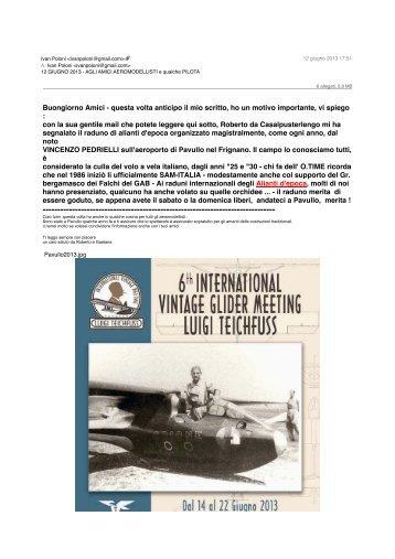12 GIUGNO 2013 - AGLI AMICI AEROMODELLISTI ... - Gruppo Falchi