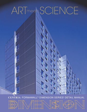 1. centria's formawall dimension series insulated wall panel ... - 5tco