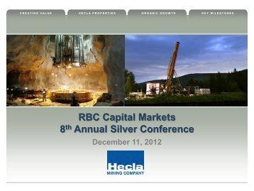 RBC Silver Conference Presentation