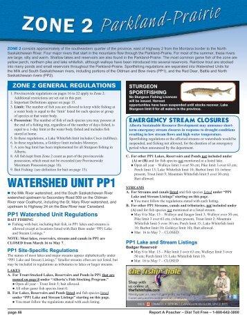 Fish Management Zone 2 — Parkland-Prairie - Alberta Regulations