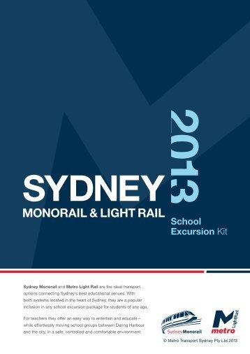 School Excursion kit - Sydney Monorail