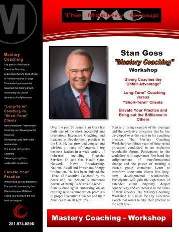 Stan Goss - Mastery Group