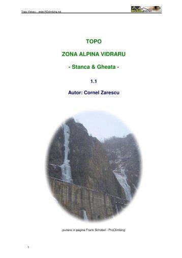 TOPO ZONA ALPINA VIDRARU - Stanca & Gheata -