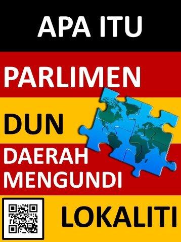 Maksud Lokaliti, Daerah Mengundi, DUN dan Parlimen