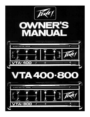 VTA 400-800 - Peavey