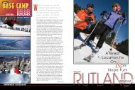 Rutland - Snow East Magazine