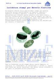 Lucidatura stampi per Materie Plastiche - MZF Srl