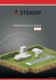 HF400 perimeter security sensor - Stekop S.A.