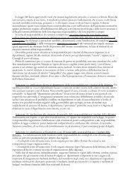 Documento di Raffaele D'Agata sulle nuove strutture