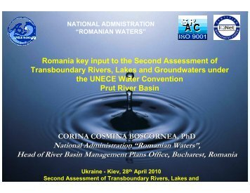 """Romanian Waters"", Head of River Basin Management ... - UNECE"