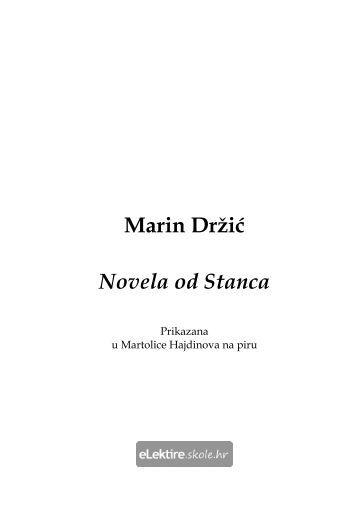 Marin Držić Novela od Stanca
