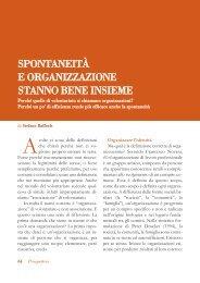 Spontaneità e organizzazione stanno bene ... - Volontariato Lazio