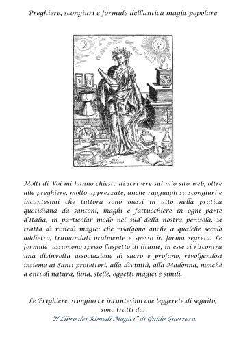 """Preghiere, scongiuri e formule dell'antica magia popolare """"Il Libro ..."""