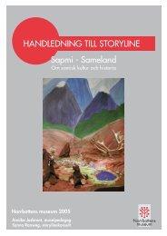 HANDLEDNING TILL STORYLINE Sapmi - Sameland