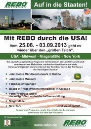 Mit REBO durch die USA! - Rebo Landmaschinen GmbH