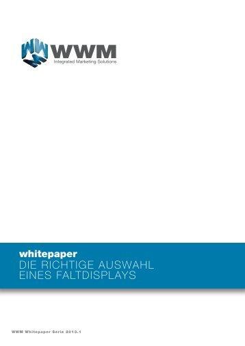 die richtige auswahl eines faltdisplays - WWM GmbH & Co.KG