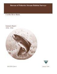 Bureau of Fisheries Stream Habitat Surveys - StreamNet