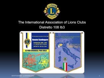 Diapositiva 1 - Distretto 108Ib3