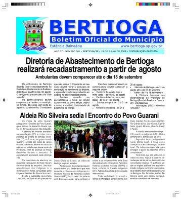 361 - Prefeitura do Município de BERTIOGA. - Governo do Estado ...