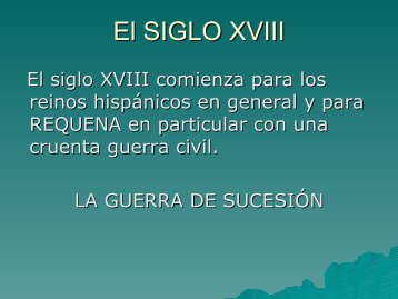 El SIGLO XVIII