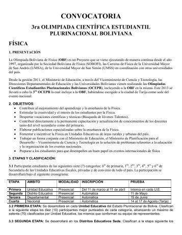 convocatoria de física - FCPN