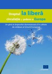 Dreptul la liberă circulaţie şi şedere în Europa - EU Bookshop - Europa