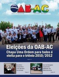 Eleições da OAB-AC - Caixa de Assistência dos Advogados do Acre