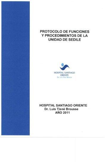 protocolo de funciones y procedimientos de la unidad de sedile