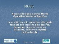 MOSS, mezzo operativo sanitario specifico. - Fondazione Catis