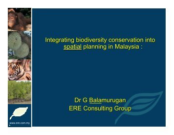 ERE Consulting Group - Integrating biodiversity conservation into ...
