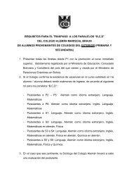 Proceso de admisión grupo B C D - Colalelapaz.edu.bo
