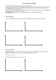 Das 6-Quadranten-Modell (bei flexiblen Preisen)