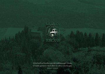 Scarica la nostra brochure (formato PDF) - Casa in Toscana