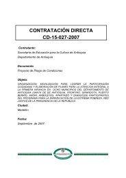 PROYECTO PLIEGO CD-027 MANA- SEDUCA - Portal Único de ...