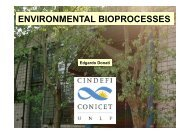Bioprocesses with environmental importance - Workshop on ...