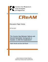 Discussion Paper Series The Income Gap Between ... - CReAM