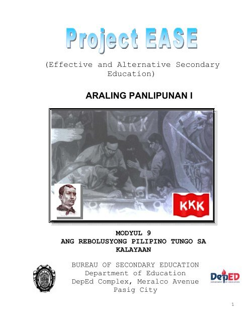 Ang Rebolusyong Pilipino Tungo sa Kalayaan - Bureau of