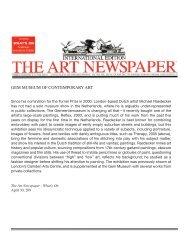 GEM MUSEUM OF CONTEMPORARY ART - Andrea Rosen Gallery