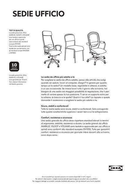 Sedie Ufficio Ikea
