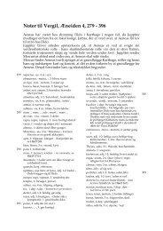 Noter til Vergil, Æneiden 4, 279 - 396