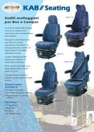 Sedili Molleggiati per Bus e Camper - KAB Seating
