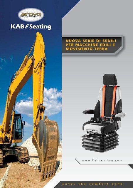 nuova serie di sedili per macchine edili e movimento ... - KAB Seating