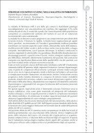 Strategie cognitive e cueing nella malattia di Parkinson - Limpe