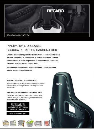 Catalogo Recaro Sportster CS Carbon - Motorquality