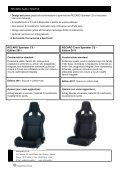Catalogo Recaro Sportster CS Carbon - Motorquality - Page 2