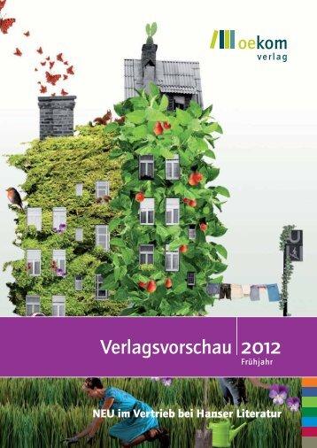 Frühjahr 2012 - oekom Verlag