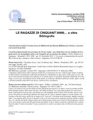 LE RAGAZZE DI CINQUANT'ANNI… - Sistema bibliotecario ticinese